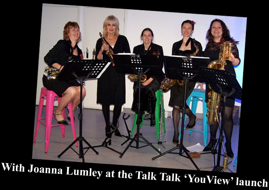 Joanna Lumley & Sax On TV - Talk Talk 'YouView' launch